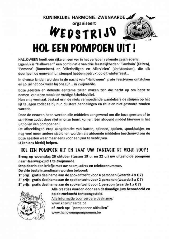 Hol een pompoen uit en win gratis tickets voor de spokentocht!